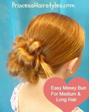 """Flip Braid"" Messy Bun, Easy Video Tutorial - for long hair"