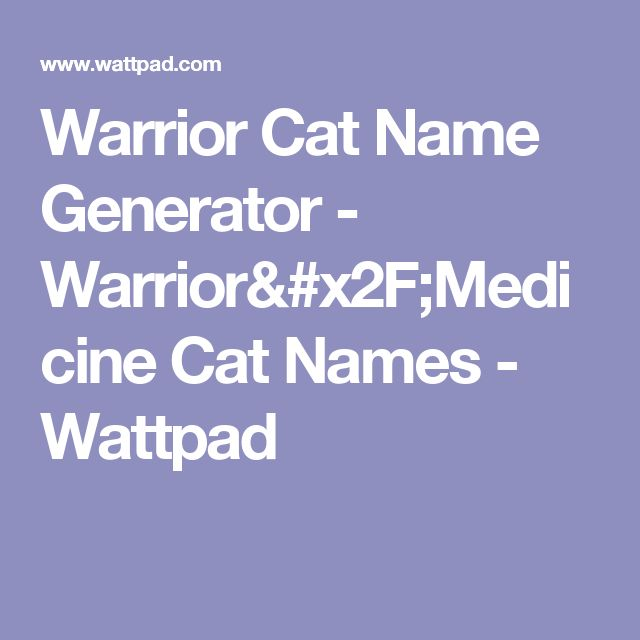 Warrior Cats Charakter Test
