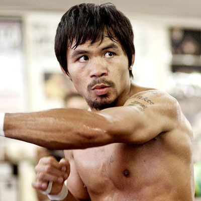"""Manny """"Pacman"""" Pacquiao. Maybe the greatest boxer who ever lived. And he's a lefty. Love it."""