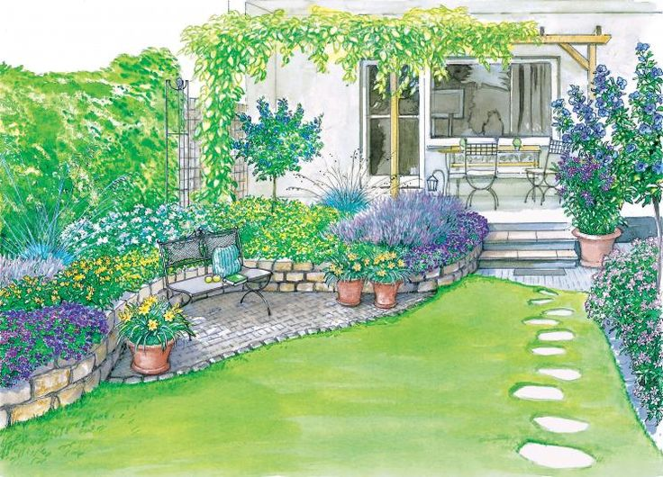 140 besten Garten Bilder auf Pinterest Gartenideen - garten reihenhaus
