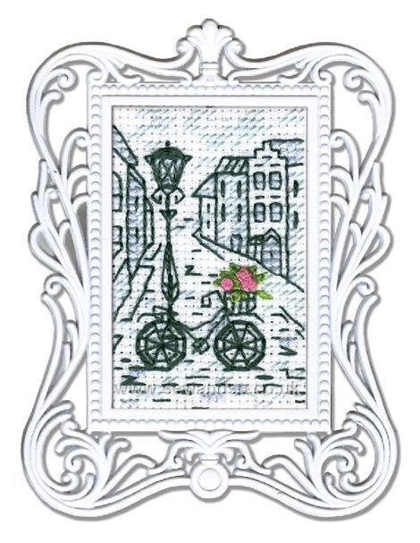 Bicycle Framed Art Cross Stitch Kit