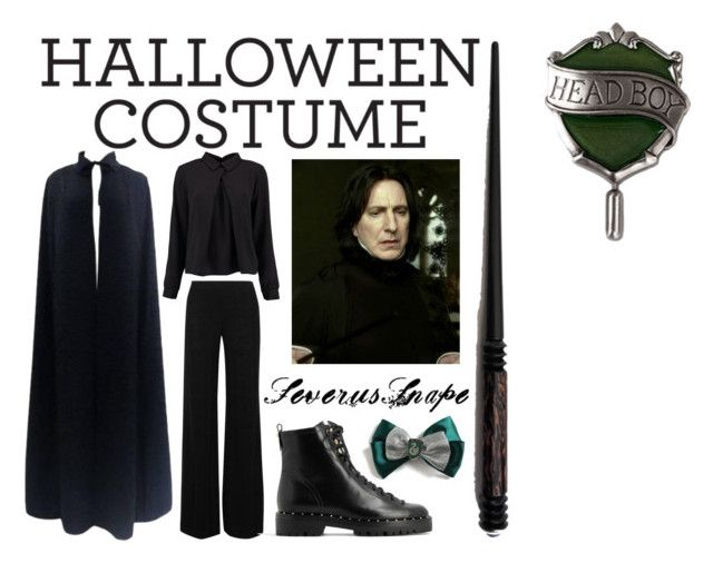 """Severus Snape Halloween Costume"" by the-game-is-something ❤ liked on Polyvore featuring Missoni, Boohoo, Valentino and Warner Bros."