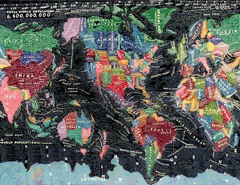 The World - 20x200 by Paula Scher