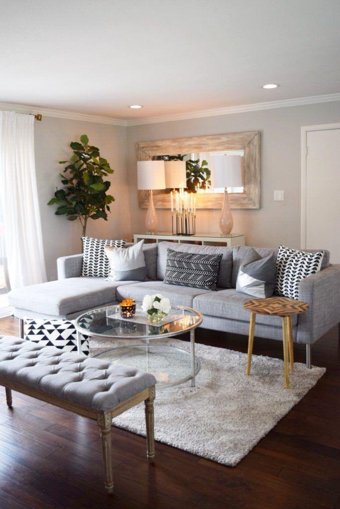 Grafische Schwarz Weiss Muster Liegen Dieses Jahr Im Trend Diese Kissen Machen Auf Jedem Sofa Eine G Living Room Color Schemes Elegant Living Room Living Decor #simple #interior #design #living #room