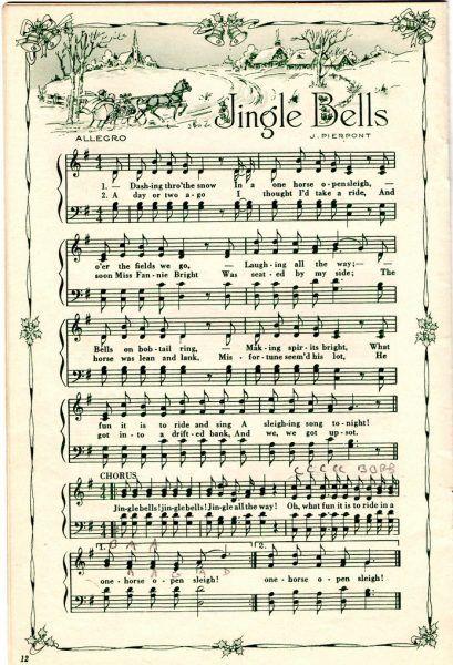 Remodelaholic | 25+ Free Printable Vintage Christmas Sheet Music; Day 10