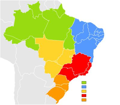 States of Brazil - The Federative Republic of Brazil is a union of twenty-seven Federative Units (Portuguese: Unidades Federativas (UF)): twenty-six states (estados) and one federal district (distrito federal), where the federal capital, Brasília, is located. The states are generally based on historical, conventional borders which have developed over time. The Federal District is not a state in its own right, but shares some characteristics of a state as well as some of a municipality.
