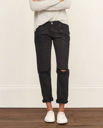 25  best ideas about Black Boyfriend Jeans on Pinterest | Baggy ...