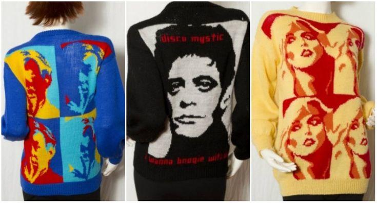 Blondie, Lou Reed, David Bowie, Andy Warhol & more rendered in gorgeous knitwear
