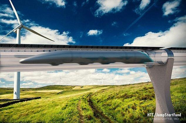 Hyperloop koncepció/conception Forrás/source: HTT  Szerző/creater: HTT / JUNSTARTFUND