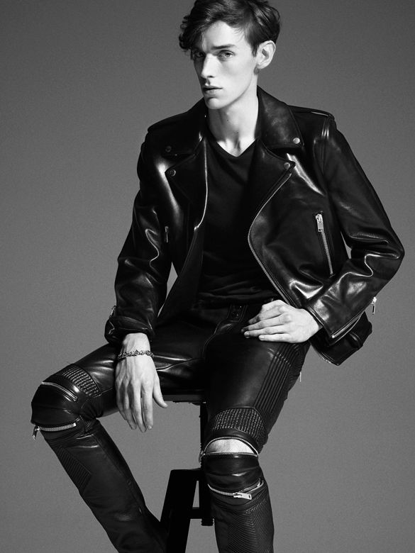 Saint Laurent Paris leather jacket is great, the jeans are more tricky.