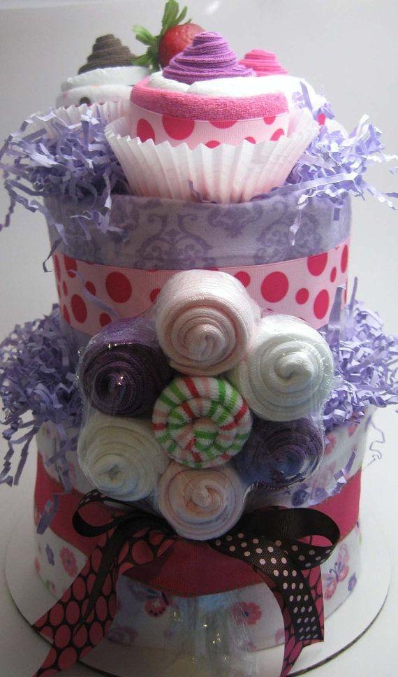 Cute baby shower gift, diaper cake