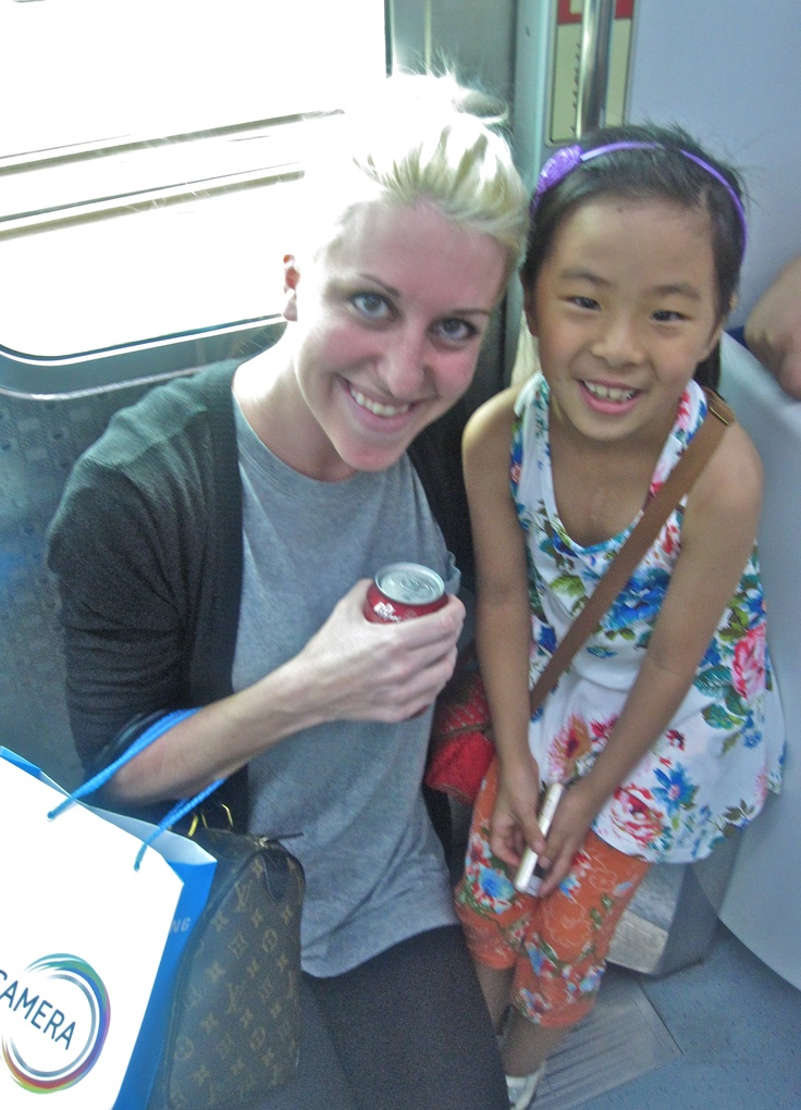 on the subway this little girl asked told me her dream was to be an English Teacher...so sweet: English Teacher