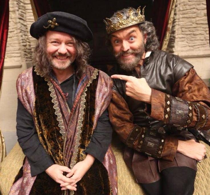 Ricky Gervais as (Magician) and Timothy Omundson as (King Richard) #Galavant