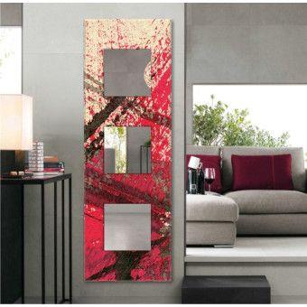 Evkanvas 40x120 cm Dekoratif Boy Aynası Kırmızı Soyut Desen