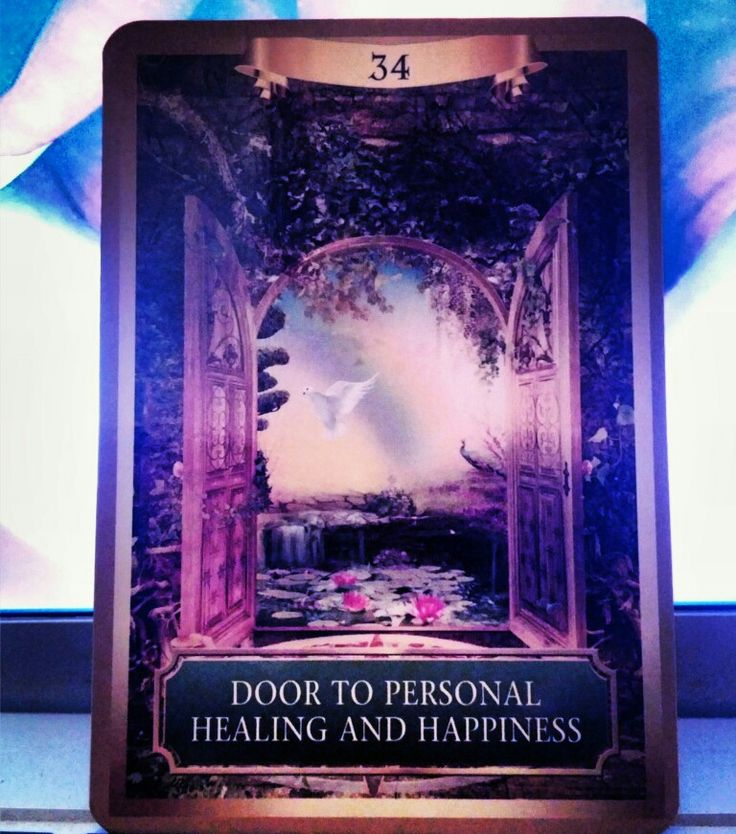 Affirmation: I am strong, focused, and self-directed. I have the power to create wonderful new realities in my life. ~Door to Personal Healing and Happiness card from Energy Oracle Cards by Sandra Anne Taylor~