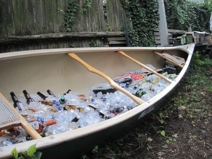 ice canoe, or row boat, for an Orcas Island cocktail hour.