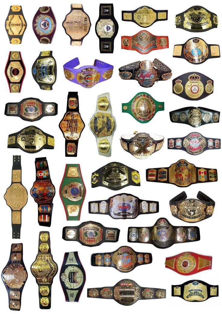 Pro-Wrestling Title Belts. #prowrestling