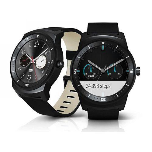 Lg G Watch R Noir pas cher prix promo Montre connectée Rue du Commerce 248.90 € TTC