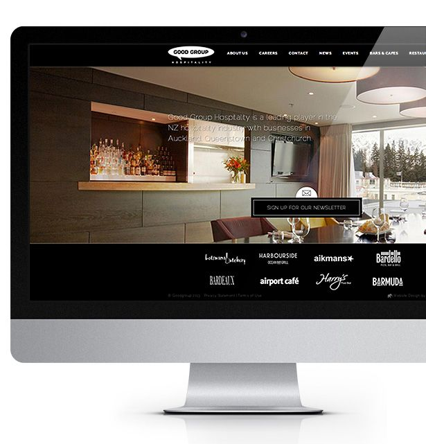 Good Group Hospitality owns and operates a number of businesses across NZ, including restaurants, bars and cafes.   Little Giant created Good Group a contemporary website design. Little Giant utilised full screen background images and implemented a unique slide in for information to appear on screen. The Good Group website is the main content management system for five of Good Groups websites; this gives the client ability to uniquely manage all of their websites under one login and…