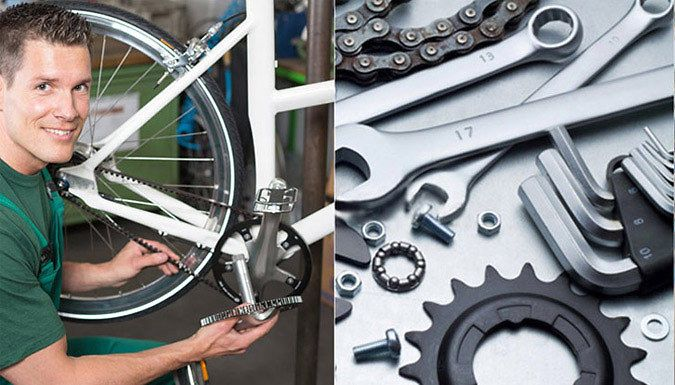Buy Bicycle Maintenance Online Course for just £12.00 Save money on repair costs with the Bicycle Maintenance Course      Provides a complete guide to bicycle maintenance and repair      Discover how to remove wheels and tyres      Learn chain maintenance and get a detailed look at the gear and brake system      Ideal for everyone from long distance commuters to casual cyclists      See Full...