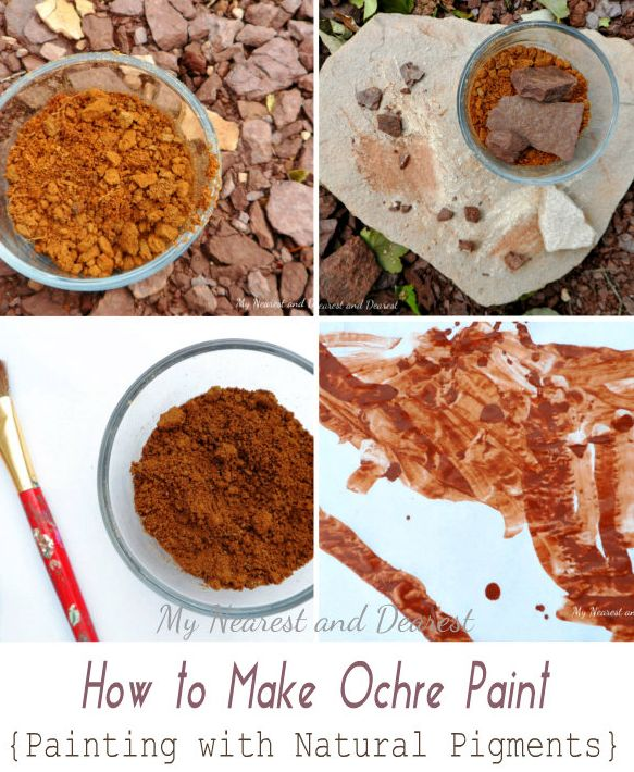 Making Ochre paint