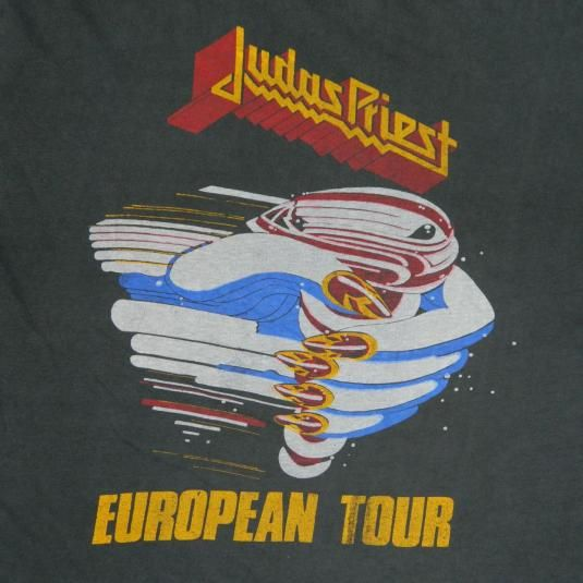 Vintage JUDAS PRIEST FUEL FOR LIFE 80s EUROPEAN TOUR T-Shirt