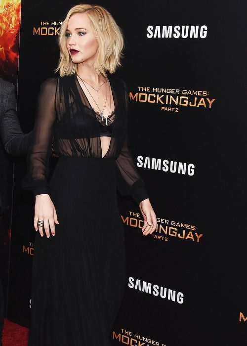 J-Law looking great in black lace! | J-Law is beautiful in a sexy black dress! …