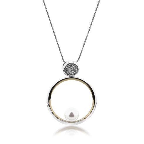 Lantisor cu perla si diamante C552