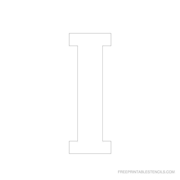 29 best stencils images on pinterest stenciling letter and printable 6 inch letter stencil i spiritdancerdesigns Images