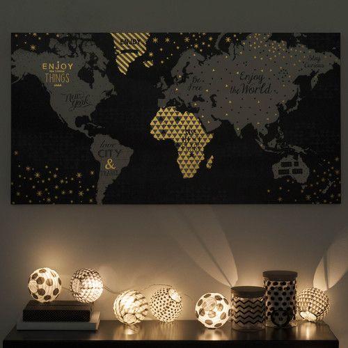 Guirlande de lampions lumineuse en papier blackstage maisons du monde mdm - Luminaire maison du monde ...