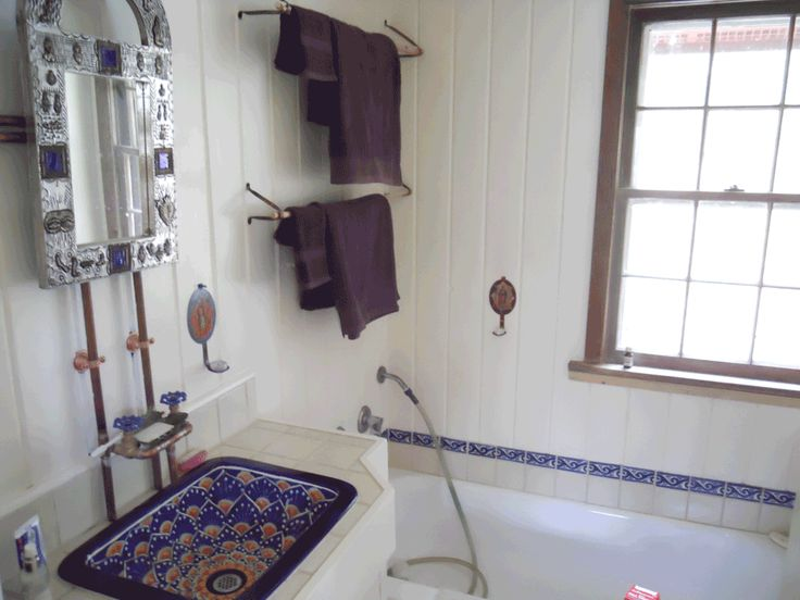 Mexican Style Bathrooms Beautiful Ceramic Sink With Hand
