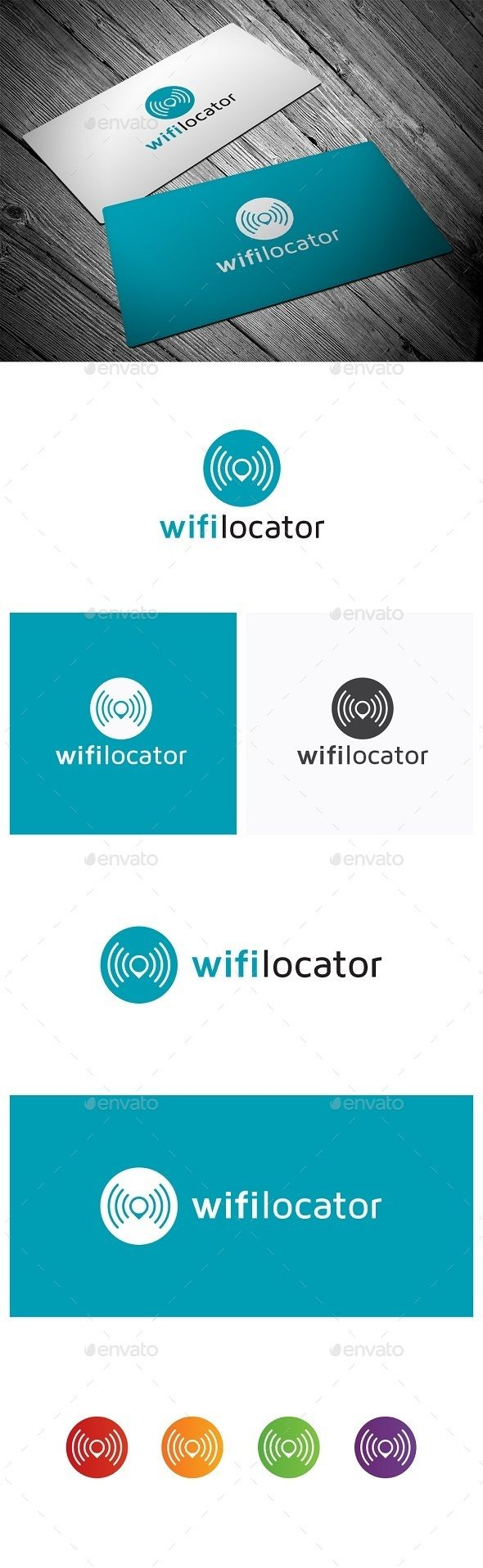 Wifi Locator — Vector EPS #modern #location • Available here → https://graphicriver.net/item/wifi-locator/9850818?ref=pxcr