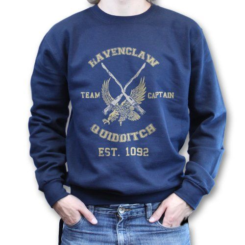Amazon.com: Ravenclaw Hogwarts Team Quidditch Harry Potter Sweater Sweatshirt Jumper: Clothing