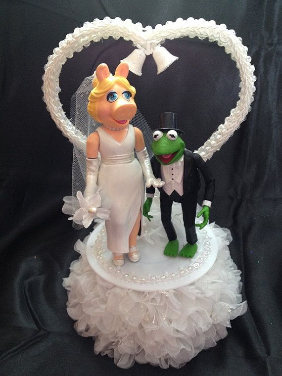 Muppets Miss Piggy And Kermit Wedding Cake Topper By 1topper