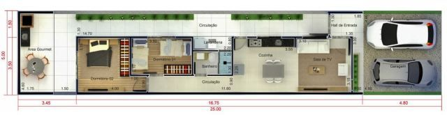 Home Design 5x25 Metros Home Ideassearch House Design Design House Plans