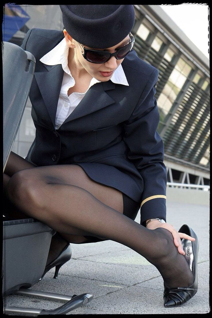 Nice Black Pantyhose She 3