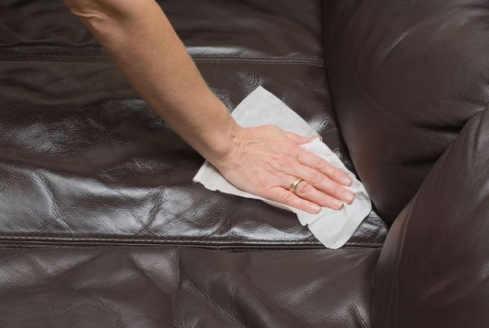 how to clean leather couch without chemicals