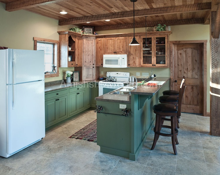 Amish Kitchen Cabinets Country Style Amish Living Pinterest