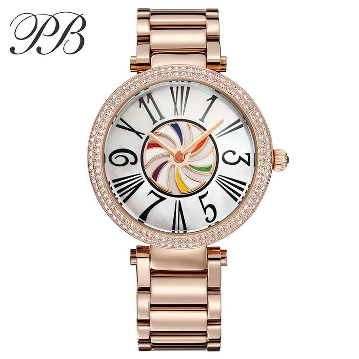 Find More Women's Watches Information about PB Brand Austrian Crystal Diamond Luxury Ladies Dress Watches Charm Womens Quartz Rose Gold Stainless Steel Watch montre femme,High Quality dress fabric by the yard,China watch heart rate gps Suppliers, Cheap watches beautiful from YIKOO Watches Store on Aliexpress.com