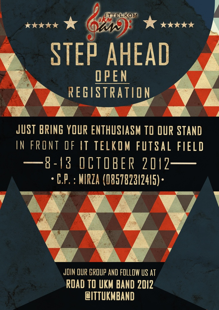 UKM BAND Step Ahead Coming Soon Flyer