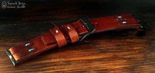 Curele de ceas, din piele, handmade. Topouzelli Straps.: Curea de ceas pentru Apple de 42