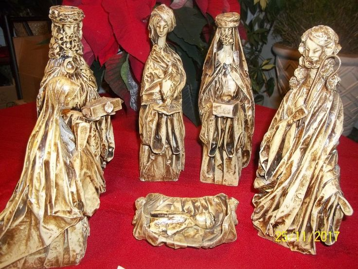 BEAUTIFUL 50 YEARS OLD VINTAGE LARGE NATIVITY SET PAPEL MEXICO RARE FIND  | eBay