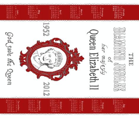 Diamond Jubilee tea towel fabric by melissamelissa on Spoonflower: Horses 2014, 2012 Fabrics, Teas Towels, Fabrics Calendar, Jubilee Teas, London Call, Dragon 2012, Diamonds Jubilee, Jubil Teas