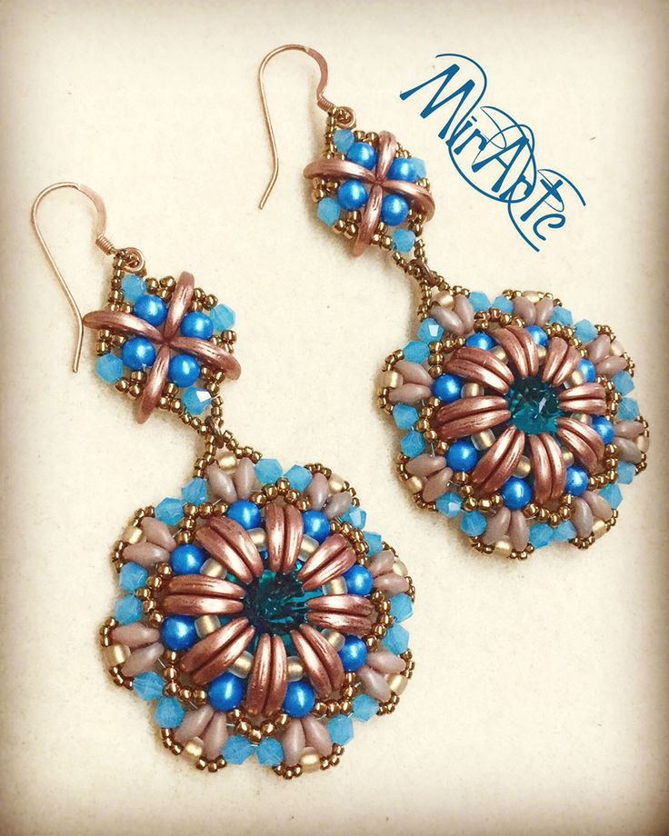 Simons Crescent-bead earrings