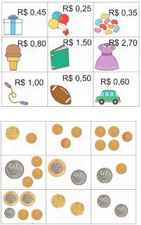 Bloguinho da Vânia: Jogo da memória: Sistema monetário