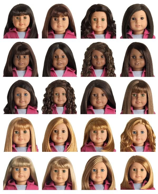 visual chart of dolls