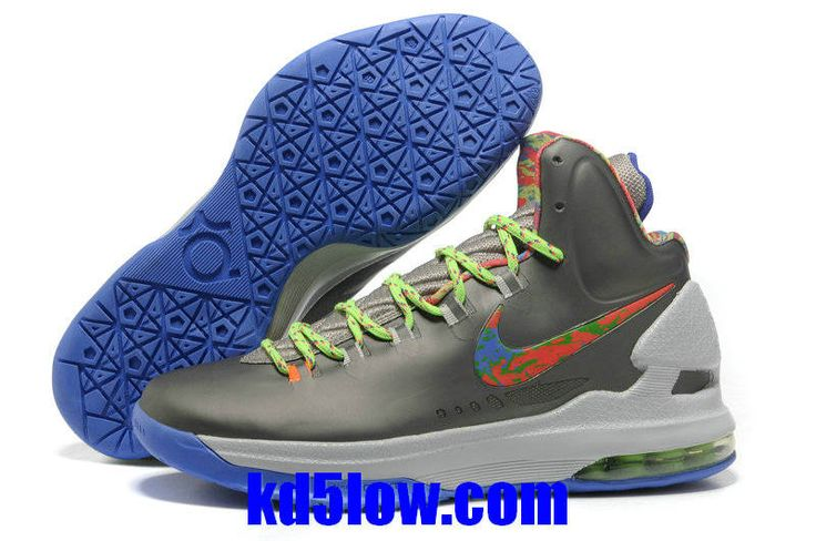 Energy Splatter Metallic Silver Red and Green Blue Nike Zoom KD 5 554988  300 Kevin Durant
