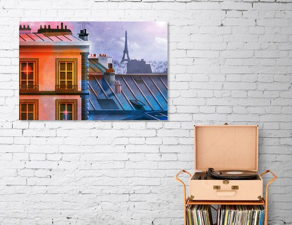 Discover «Paris rooftops», Limited Edition Canvas Print by Dorus  Verwiel - From…
