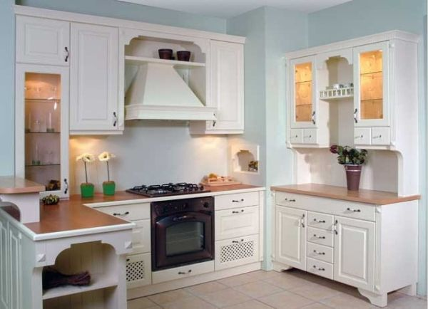 Cocina rustica en blanco cocina pinterest - Cocina rustica blanca ...