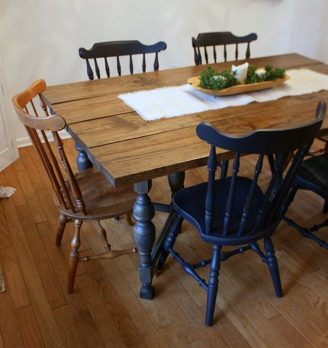 Fastest Way To Paint Wooden Chairs Painted Chairs Dining Room Blue Dining Chair Painted Wooden Chairs
